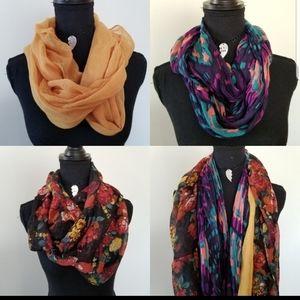 3/$25 Set of 3 scarves mustard, floral, & western